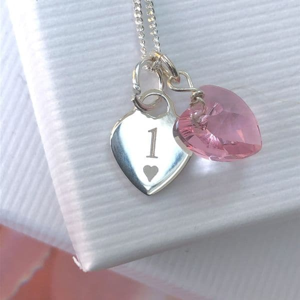 1st birthday silver jewellery gift for a granddaughter